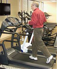 Fred Waters Reviewing Treadmill