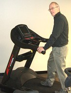 Testing a treadmill at Smooth Fitness