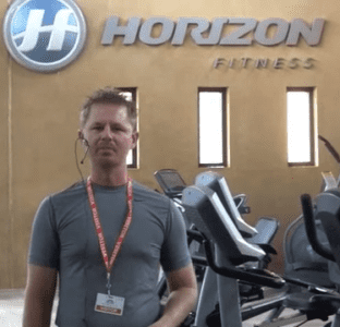 Brad at Horizon Fitness headquarters in Cottage Grove, WI talking about their products.