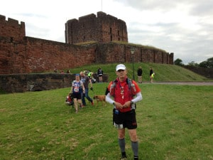 Ron Bowman at the WALL RUN - 70 mile run across Great Britain at Hadrian's Wall.