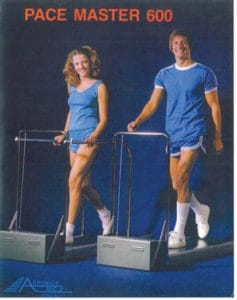 The first home treadmill was released in 1968 by Aerobics,   Inc. (Image Source)
