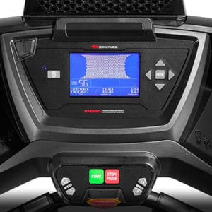 Bowflex Treadclimber TC100 console with LCD display.